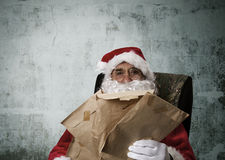 Santa claus, christmas. Santa claus in attitude and expressions royalty free stock images