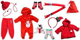 Santa claus christmas baby red things royalty free stock photography
