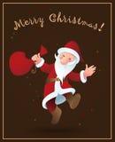 Santa Claus - Christmas background Stock Photos