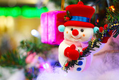 Santa claus and christmas background Royalty Free Stock Photos