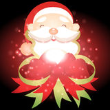 Santa Claus with Christmas background and greeting card vector Royalty Free Stock Images