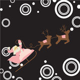 Santa Claus with Christmas background and greeting card vector Stock Photos
