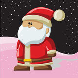Santa Claus with Christmas background and greeting card vector Stock Images