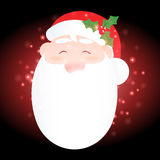 Santa Claus with Christmas background and greeting card vector Royalty Free Stock Photo
