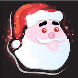 Santa Claus with Christmas background and greeting card vector Stock Photography