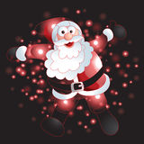 Santa Claus with Christmas background and greeting card vector Stock Photo