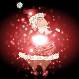 Santa Claus with Christmas background and greeting card vector Royalty Free Stock Image