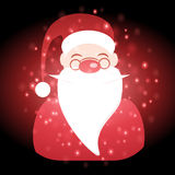 Santa Claus with Christmas background and greeting card vector Royalty Free Stock Photos