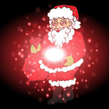 Santa Claus with Christmas background and greeting card vector Royalty Free Stock Photography