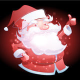 Santa Claus  with Christmas background and greeting card vector Stock Image