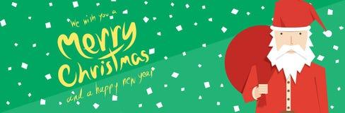 Santa Claus (Christmas Banners) Stock Image