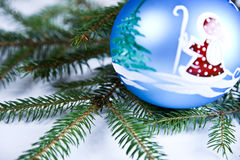 Santa Claus & Christmas Bauble Stock Images