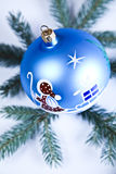 Santa Claus & Christmas Bauble Royalty Free Stock Images