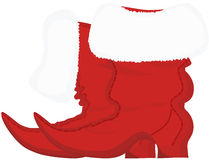 Santa Claus Christmas boots Royalty Free Stock Photos