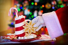 Santa Claus with Christmas candy Royalty Free Stock Image