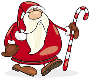 Santa claus with christmas cane Stock Photo