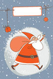 Santa claus christmas card Royalty Free Stock Images
