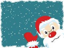 Santa Claus Christmas Card. Santa Claus waving. Vector Christmas Card Stock Photos