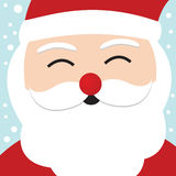 Santa Claus Christmas card Stock Image