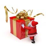 Santa claus - christmas card Royalty Free Stock Image