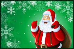 Santa Claus Christmas card Royalty Free Stock Photo