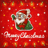 Santa Claus Christmas card Royalty Free Stock Image