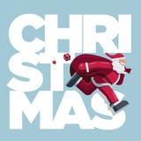 Santa Claus Christmas Card courante image libre de droits