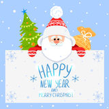 Santa Claus. Christmas Card Cute Santa Claus Stock Images