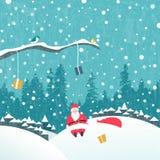 Santa claus Christmas card Royalty Free Stock Photos