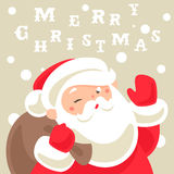 Santa Claus Christmas card Royalty Free Stock Photography