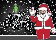 Santa claus and Christmas card Royalty Free Stock Image