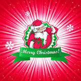 Santa Claus Christmas card. Vector illustration of Santa Claus Christmas card Stock Images