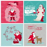 Santa Claus Christmas Cards illustrazione vettoriale