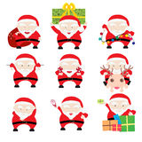 Santa Claus Christmas Cards stock abbildung