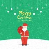 Santa Claus (Christmas Cards). Vector illustration of Santa Claus. (Christmas Cards Stock Photo