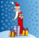 Santa claus christmas cartoon illustration Stock Images