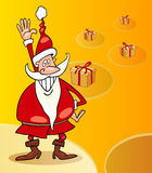 Santa claus christmas cartoon illustration Royalty Free Stock Photo