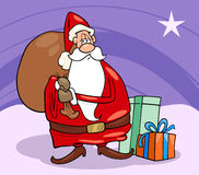 Santa claus christmas cartoon illustration Stock Image