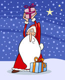 Santa claus christmas cartoon illustration Stock Photo