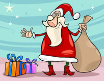 Santa claus christmas cartoon illustration Royalty Free Stock Image