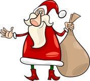 Santa claus christmas cartoon illustration Stock Photography