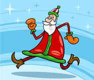 Santa claus christmas cartoon illustration Royalty Free Stock Photography