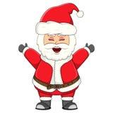 Santa claus for christmas cartoon Royalty Free Stock Image
