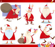 Santa claus and christmas cartoon set Stock Photo