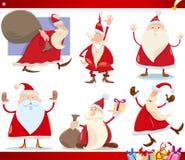 Santa claus and christmas cartoon set Stock Photo