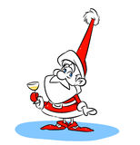 Santa Claus Christmas champagne Stock Photo