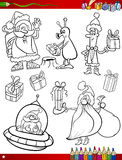 Santa claus christmas coloring page Stock Image