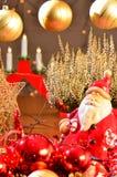 Santa Claus, Christmas decoration. Santa Claus, red and golden Christmas decoration Stock Images