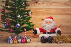 Santa Claus and Christmas decoration Stock Image