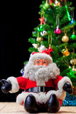 Santa Claus and Christmas decoration Stock Images